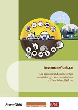 Im Hintegrund befindet sich eine Fabrik. Im Vordergrund sind verschiedene Icons um die Fabrik herum gesetzt, die die Auswirkungen der Industrie 4.0 aufzeigen.