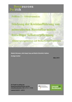 Publikationscover: Stärkung der Kreislaufführung von mineralischen Baustoffen mittels freiwilliger Selbstverpflichtung.