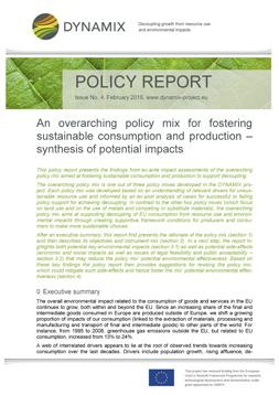 """Publikationscover: Oben ist vor einem Ausschnitt eines Pflanzenblattes steht """"Policy Report"""". Darunter folgt das Abstract des Artikels."""