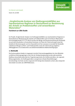 Publikationscover: erste Seite des Factsheets mit drei Absätzen Text.