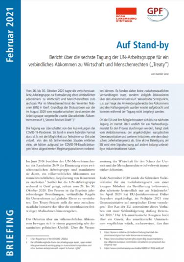 Cover mit dem Titel: Auf Stand-by